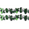 Bow Beads (Farfalle) 3.2x6.5mm Green Labrador Transparent